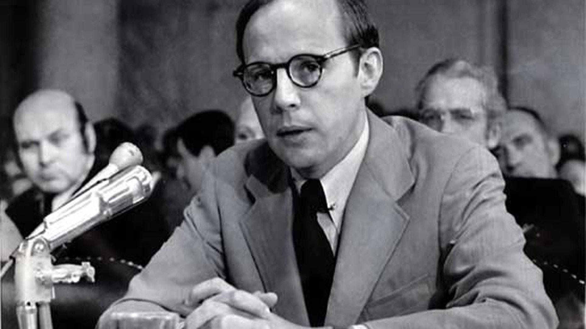 John Dean, former counsel to President Nixon, testifies during Senate Watergate hearing.