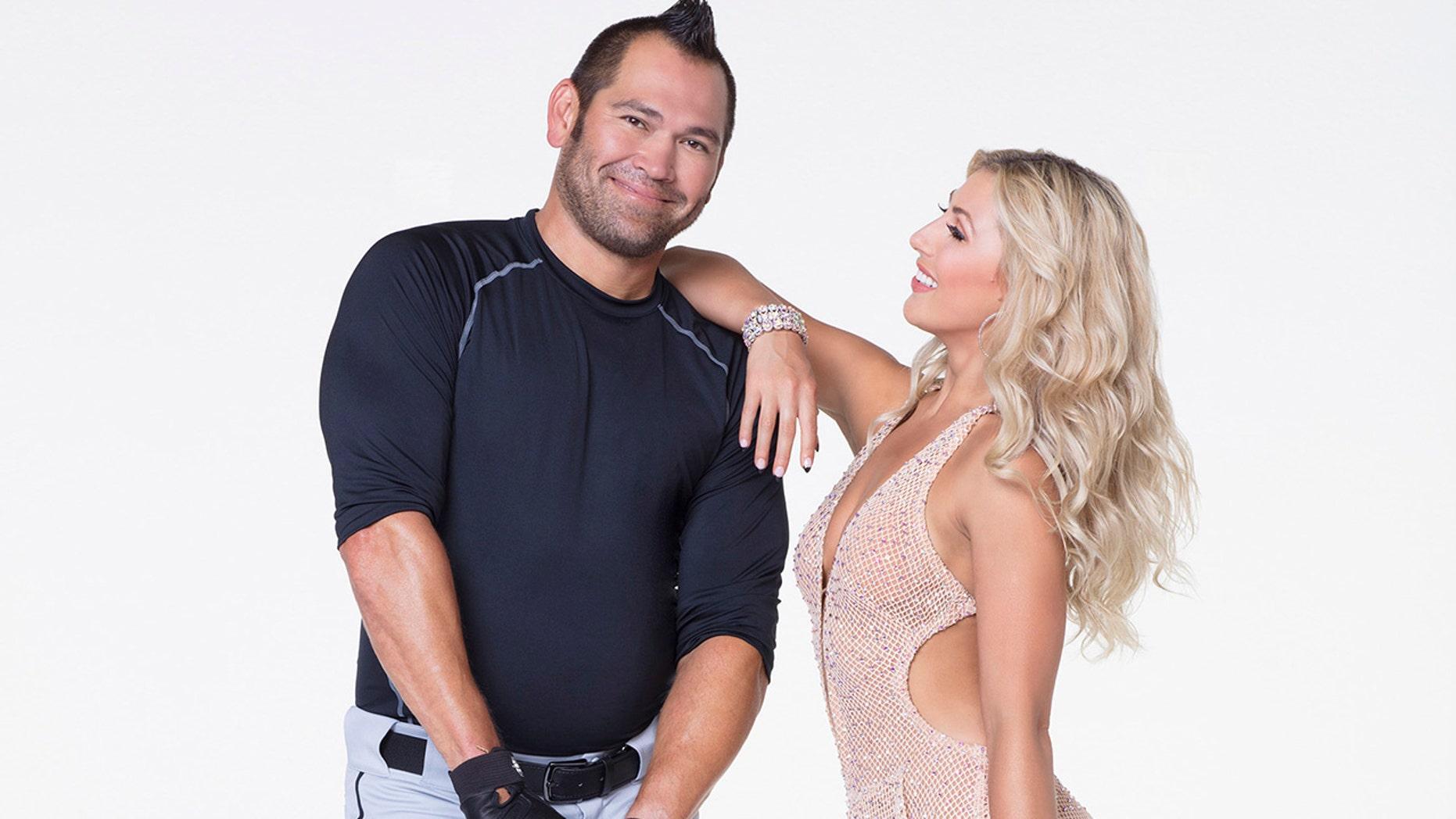 "Former Boston Red Sox player Johnny Damon (left) and his ""Dancing with the Stars"" partner Emma Slater."