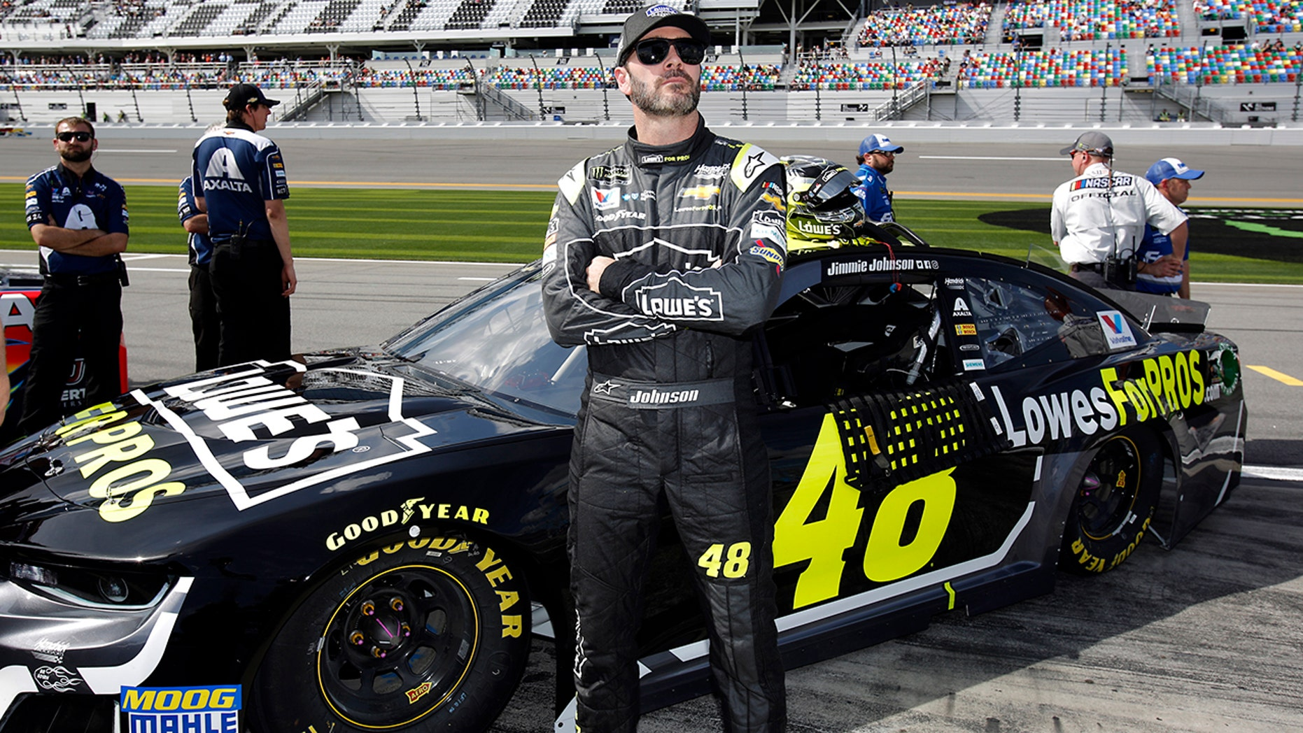 Johnson, seen here at Daytona in February, has been sponsored by Lowe's since 2001.