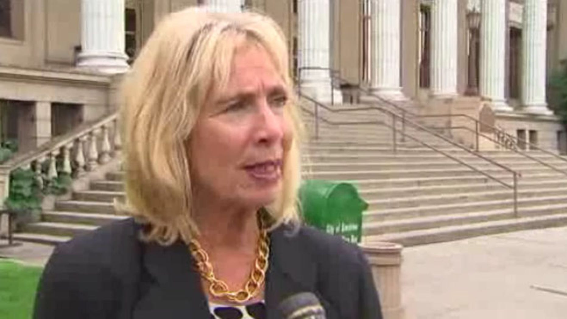 Shown here is Stockton Mayor Ann Johnston.