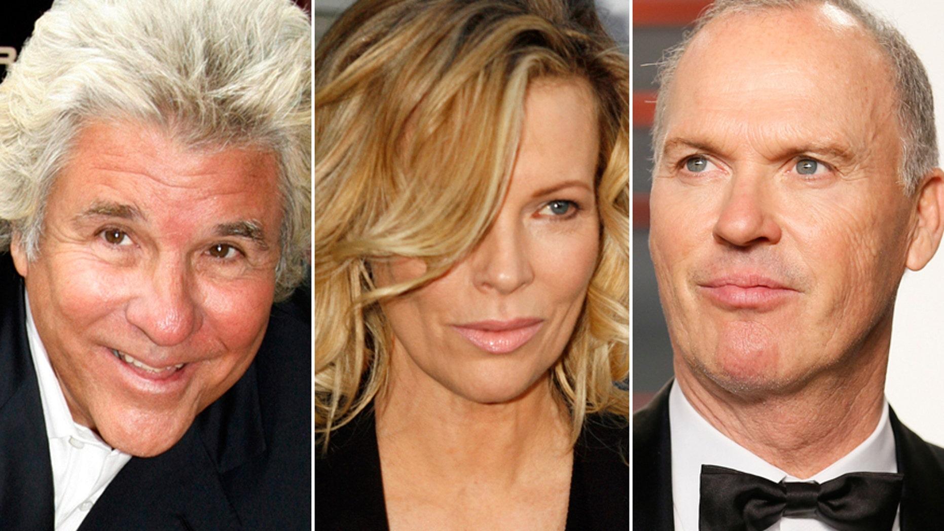 From l-r: Jon Peters, Kim Basinger and Michael Keaton.