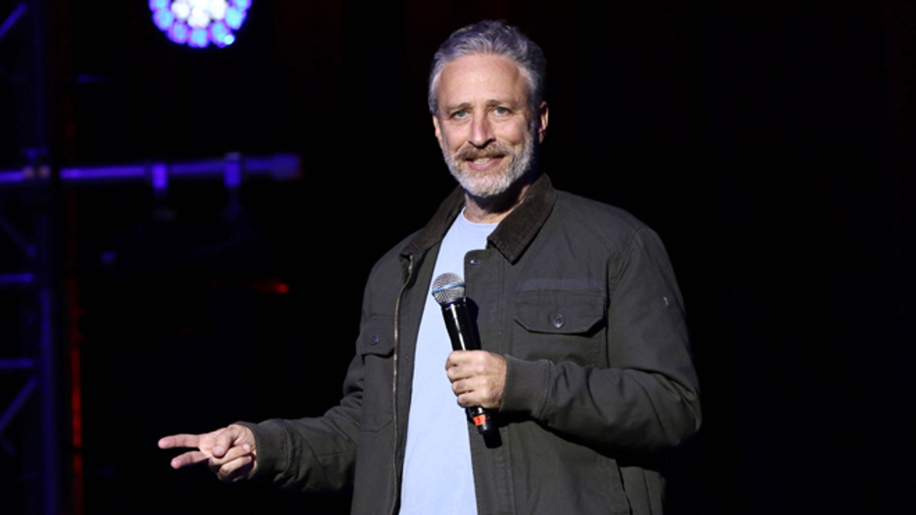 Nov. 10, 2015. Jon Stewart performs at the 9th Annual Stand Up For Heroes event, in New York.