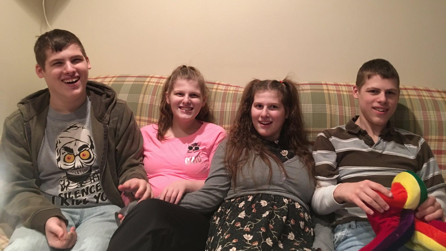"The Jones family ""Angels"": Andrew (17), Christina (16), Ashley (13) and Ryan (15). (Image courtesy: Melissa Jones)"