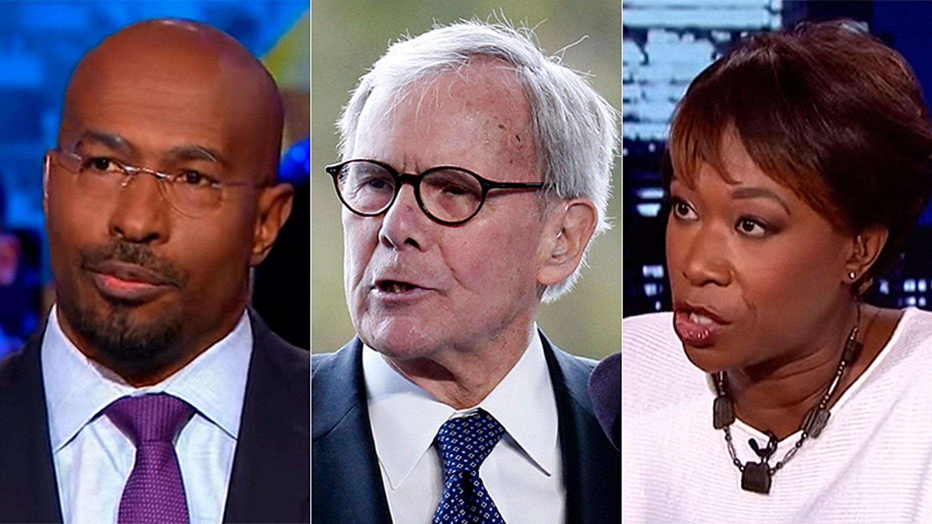 Van Jones, Tom Brokaw and Joy Reid were among the most triggered pundits on Tuesday night.