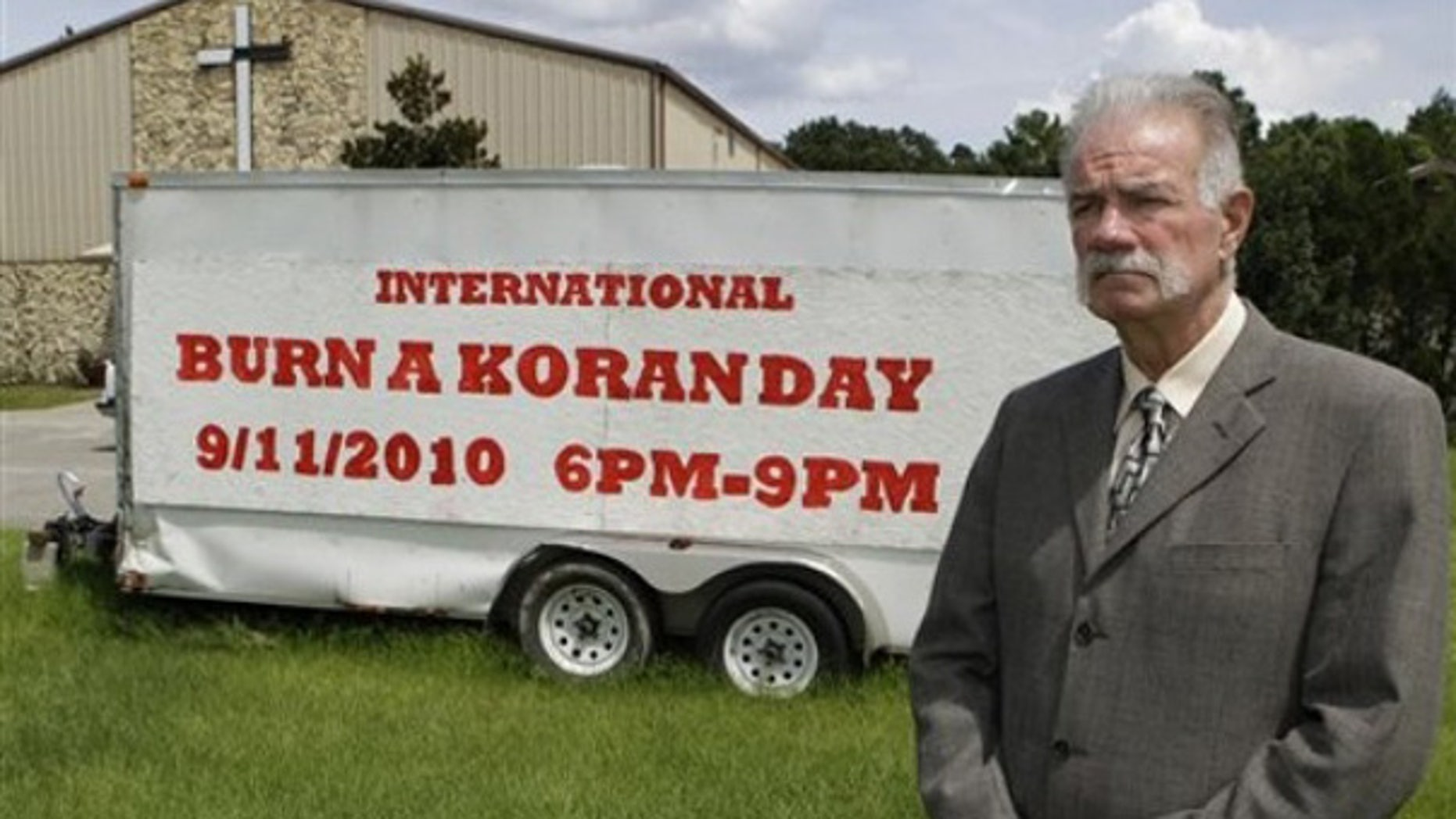 Aug. 30, 2010: Rev. Terry Jones, seen here at the Dove World Outreach Center in Gainesville, Fla., says he plans to burn copies of the Koran to mark the Sept. 11, 2001, terrorist attacks despite the potential security threat it will create for U.S. forces in Afghanistan. (AP)