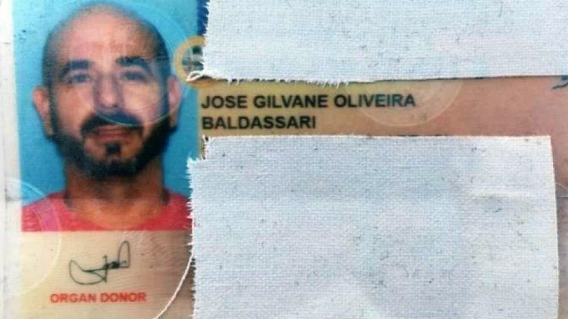 Jose Baldassari was arrested six miles from the Marcelino Serna border crossing in El Paso County, Texas.