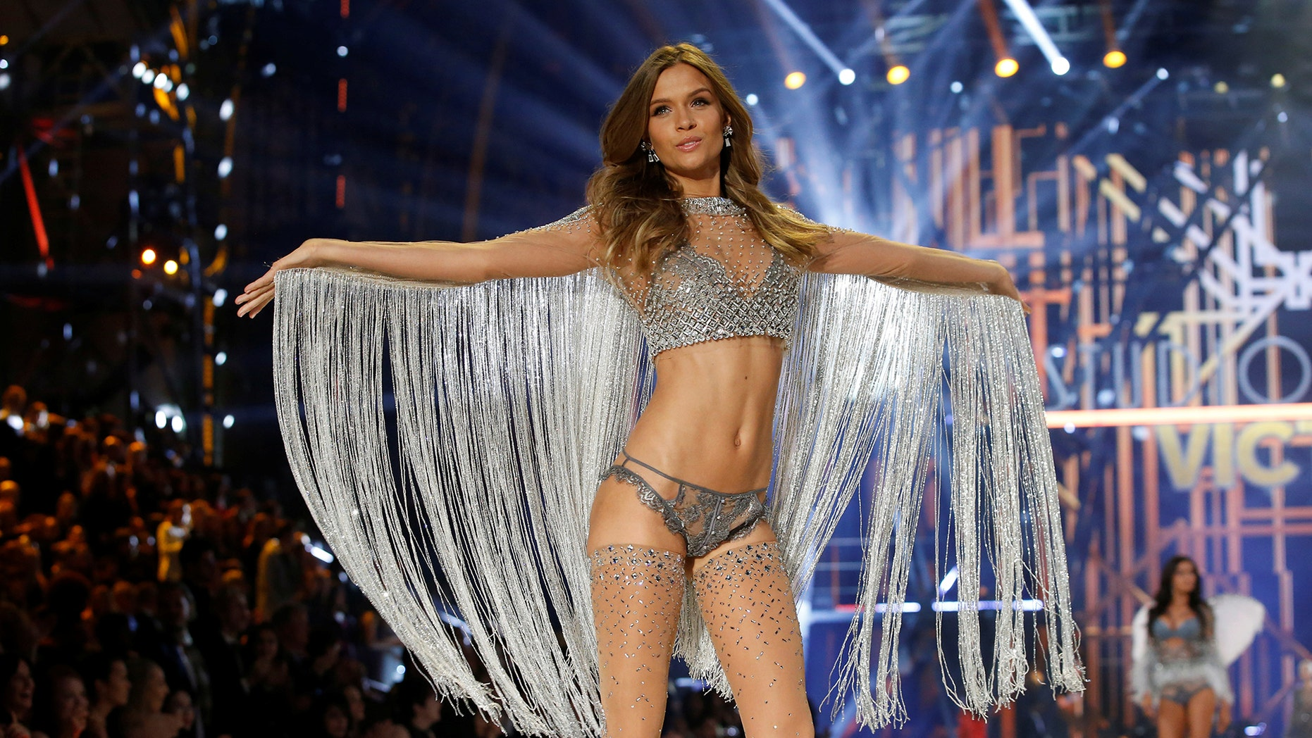 Model Josephine Skriver presents a creation during the 2016 Victoria's Secret Fashion Show at the Grand Palais in Paris, France, November 30, 2016.