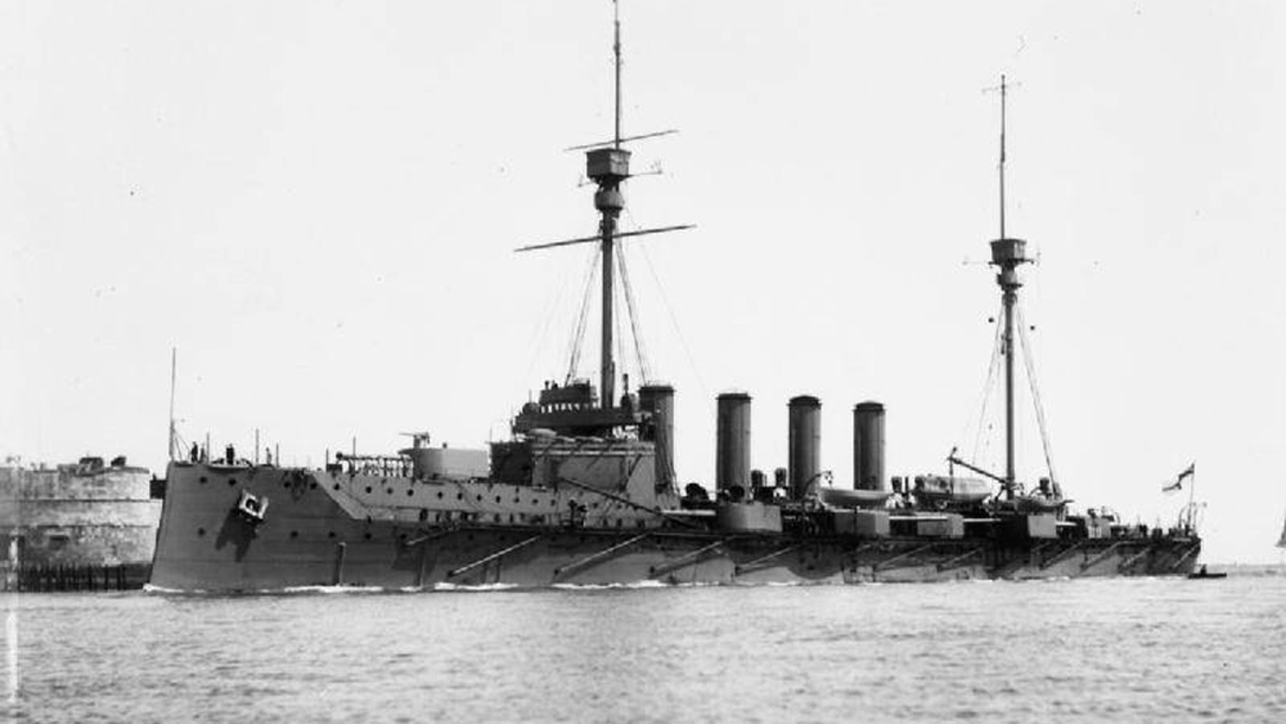 The HMS Warrior was one of 151 British warships in the North Sea on May 31 and June 1, 1916, when a German fleet of 99 warships attempted to break out from the British naval blockade of the German coast.