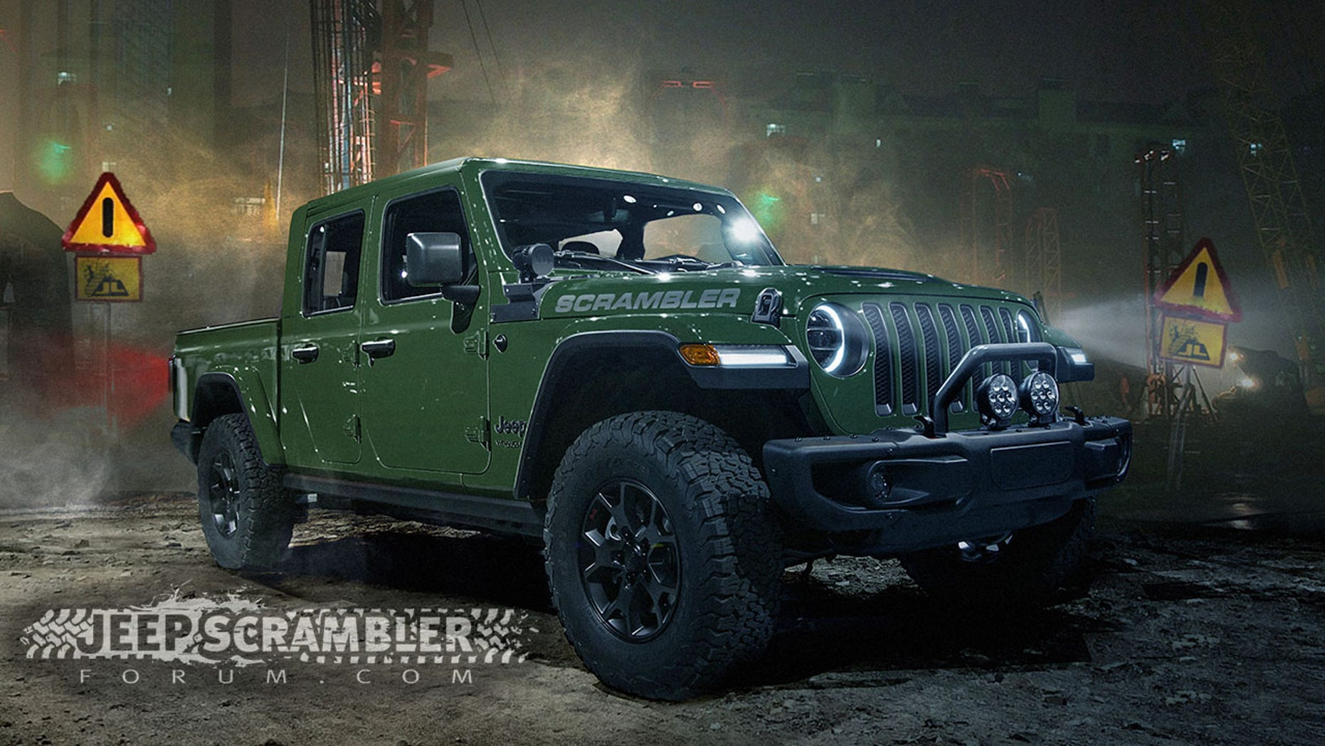 The Scrambler, as it's supposed to be called, is based on the four-door JL-generation Wrangler which debuted in November.