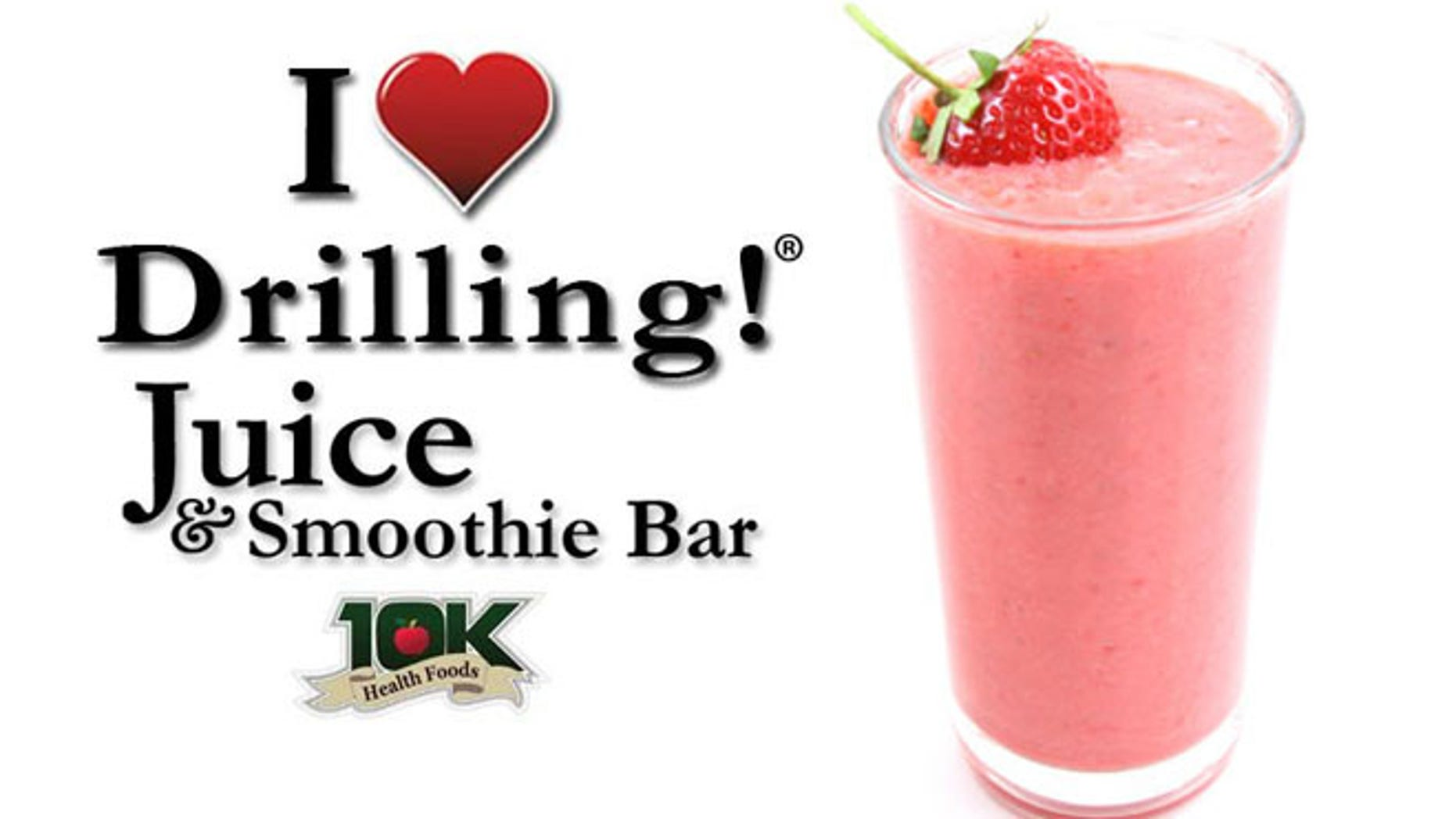 I Love Drilling Juice & Smoothie Bar is charging liberals a buck more for drinks.