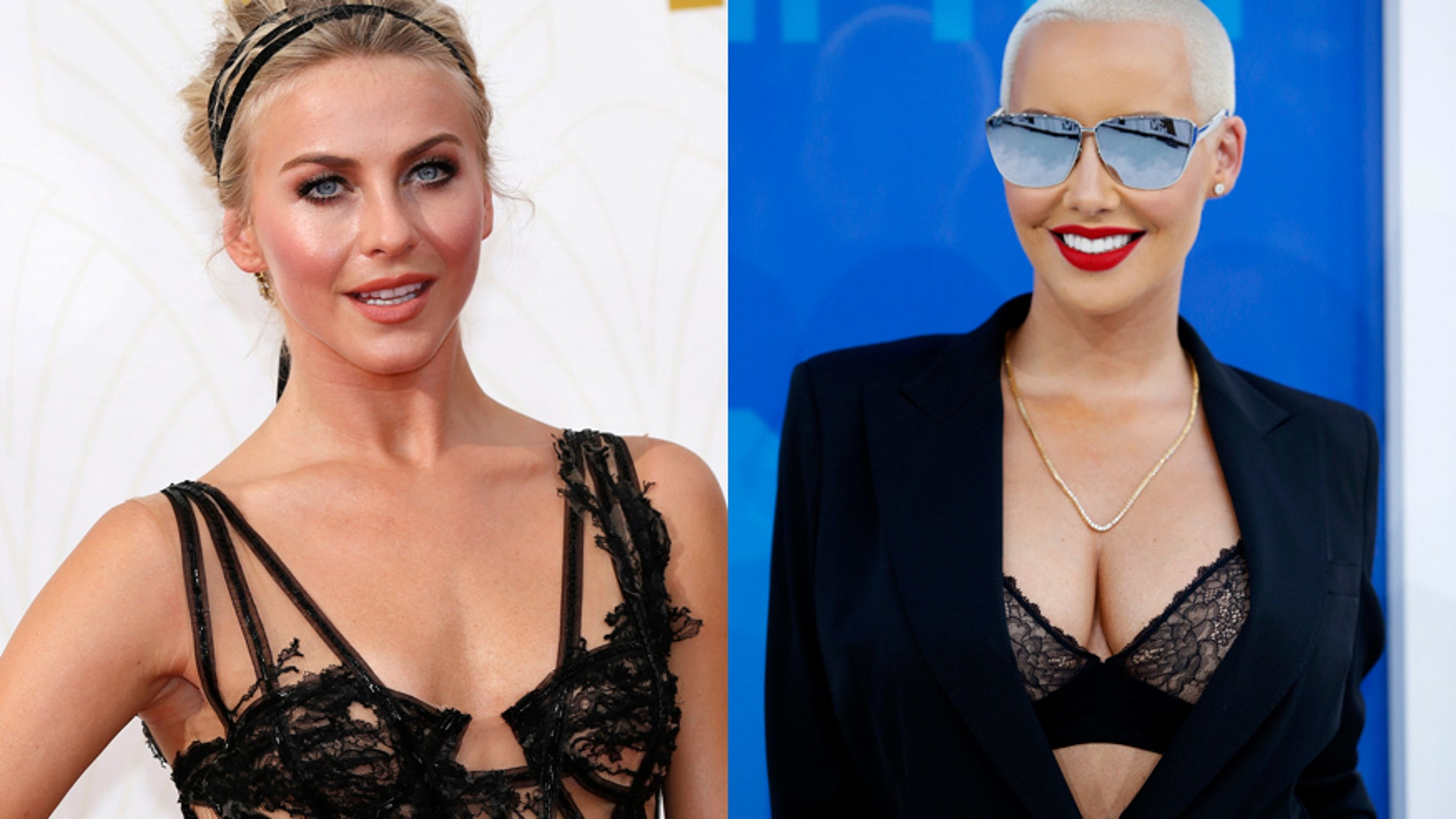 Julianne Hough (left) and Amber Rose.