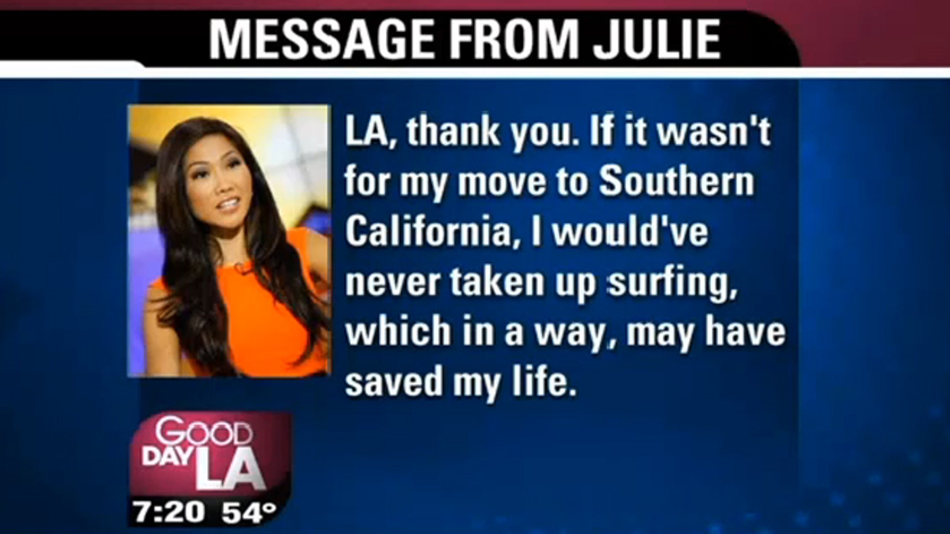 Good Day LA' anchor Julie Chang diagnosed with brain tumor