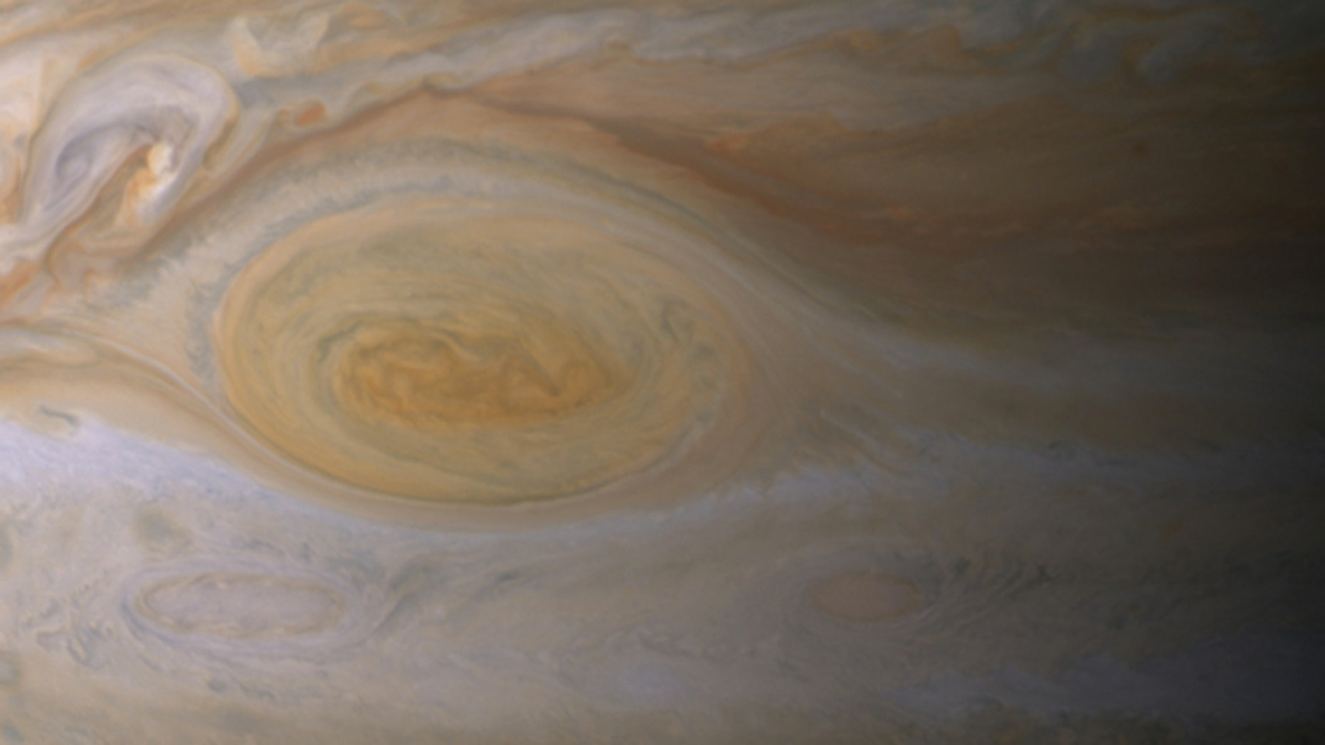 The Great Red Spot's clouds are much higher than those elsewhere on Jupiter.