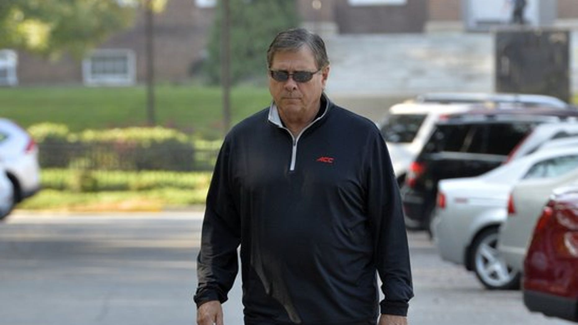 Tom Jurich, who has been Louisville athletic director for 20 years, has been fired in the wake of involvement in a national federal investigation of college basketball.  (The Associated Press)
