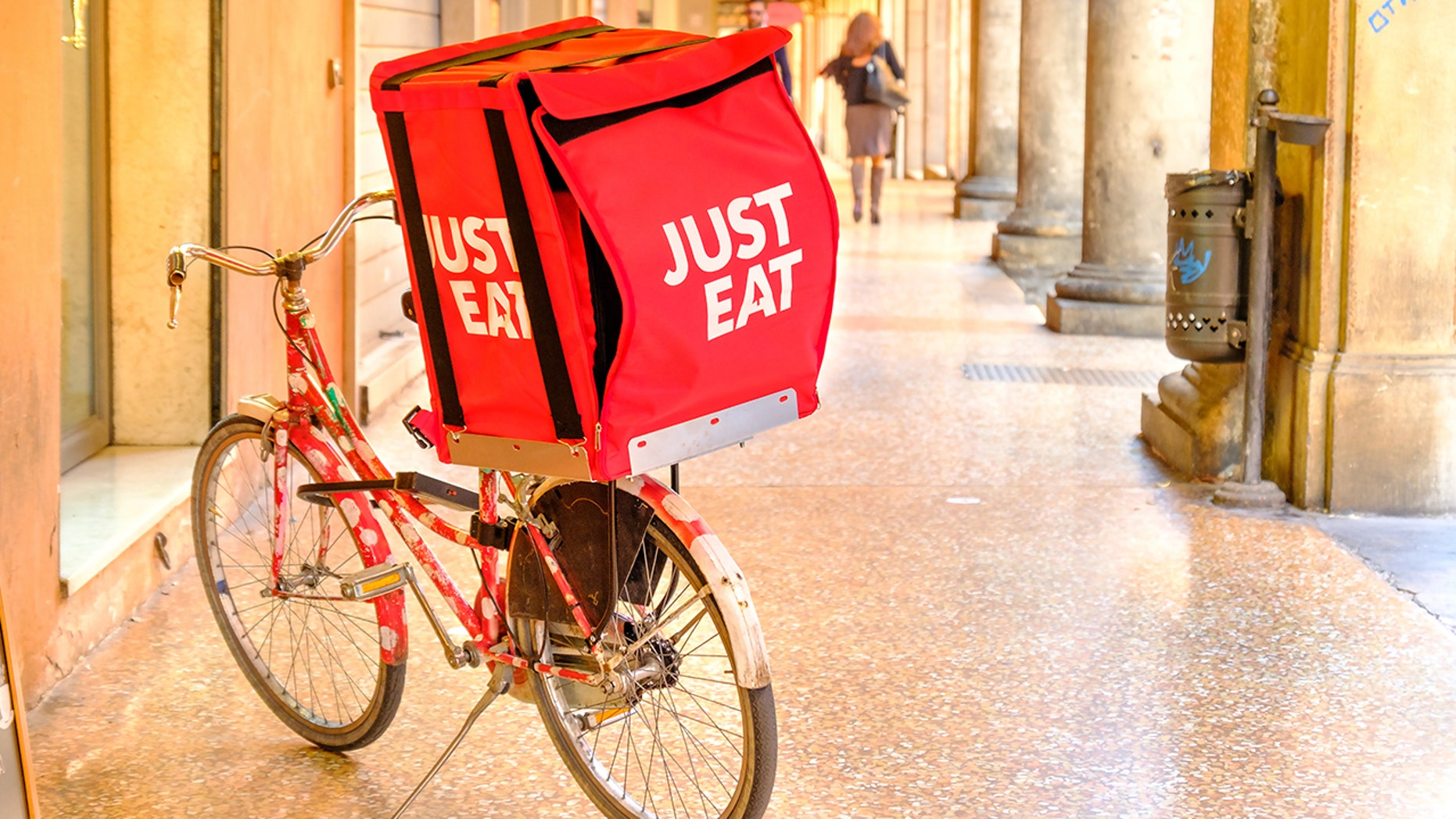 A woman says a Just Eat delivery man harassed her over text and company did not respond how she expected.