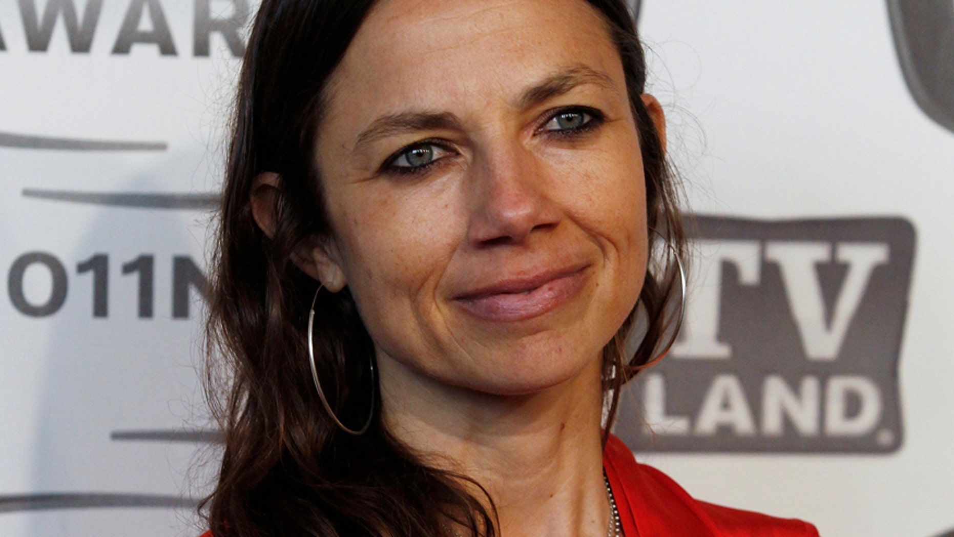 "Actress Justine Bateman arrives at the ""TV Land Awards 2011"" in New York City April 10, 2011."