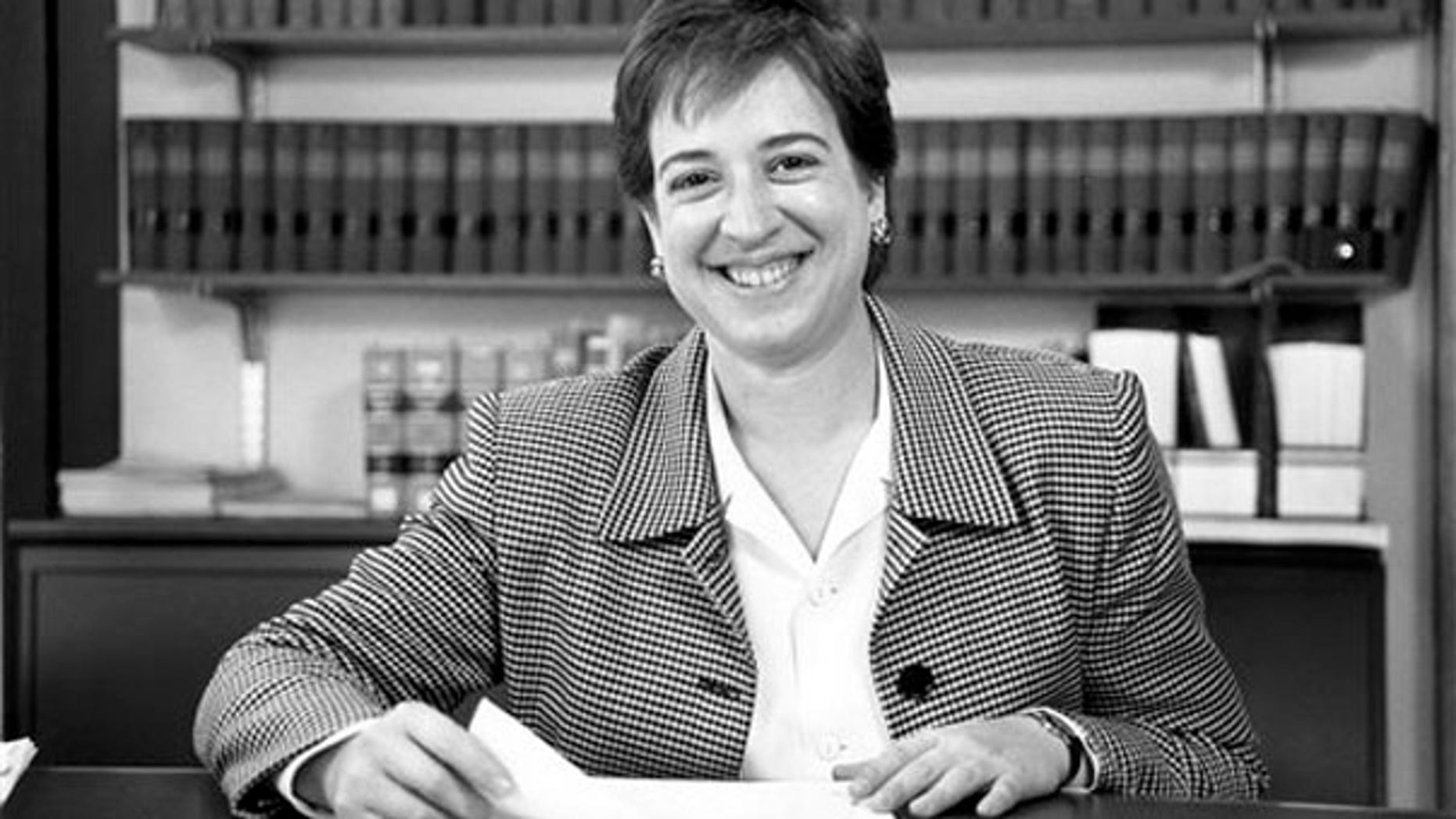 This 1993 photo provided by the University of Chicago Law School shows Elena Kagan at the university. (AP Photo)