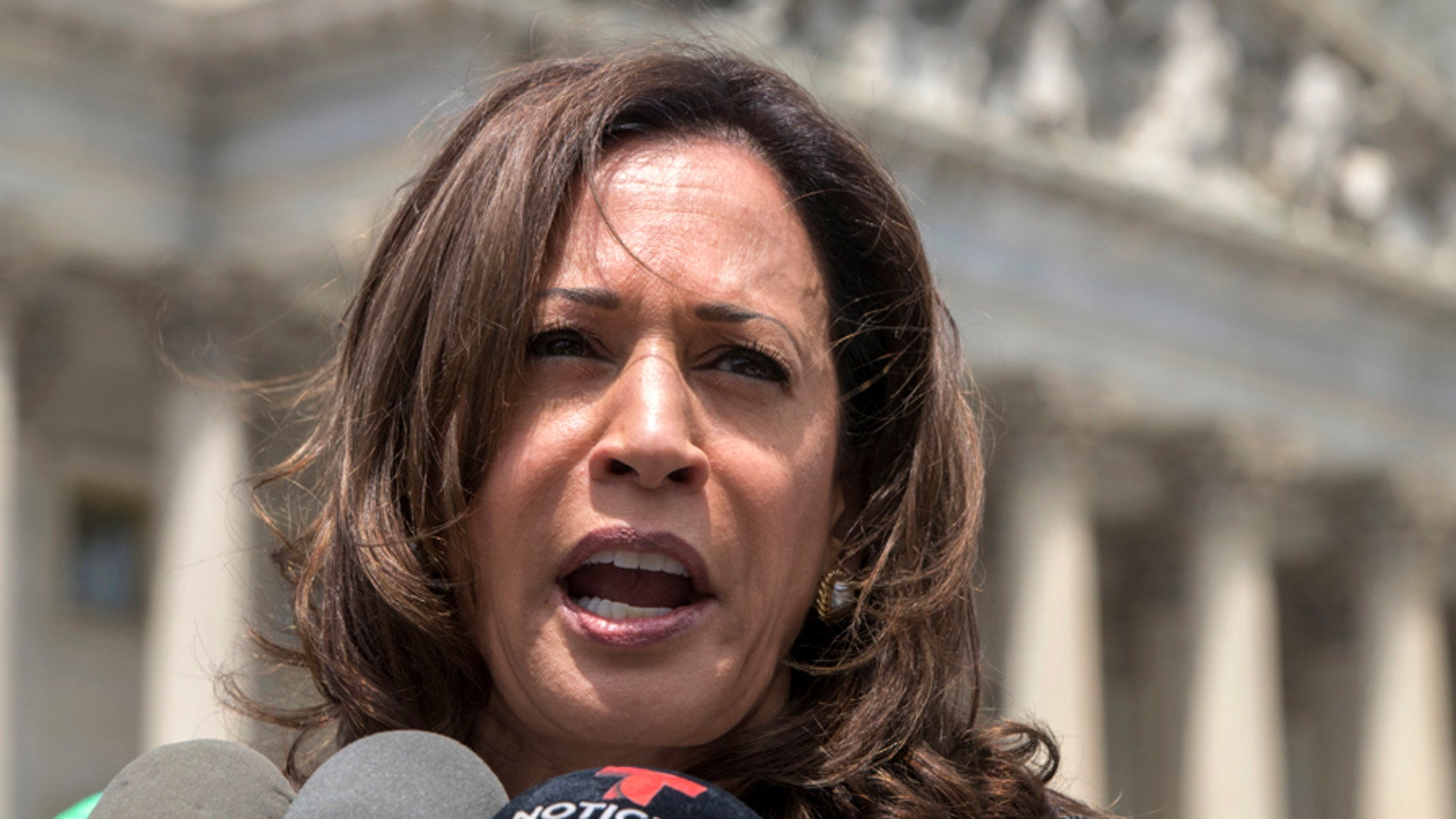 U.S. Sen. Kamala Harris, D-Calif. drew attention and criticism for her exchanges with Brett Kavanaugh during a Senate panel's hearings on Kavanaugh's nomination to the Supreme Court.