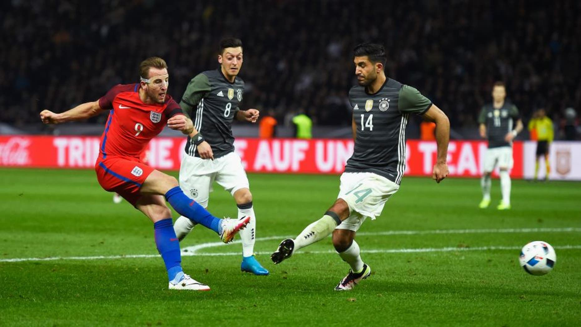 during the International Friendly match between Germany and England at Olympiastadion on March 26, 2016 in Berlin, Germany.