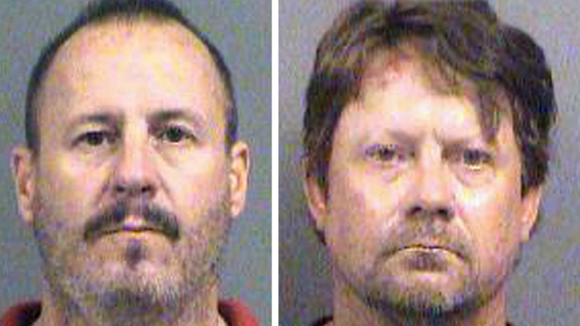 These file photos show Curtis Allen (left) and Patrick Stein (right) who are accused of plotting a bomb targeting Somali immigrants.