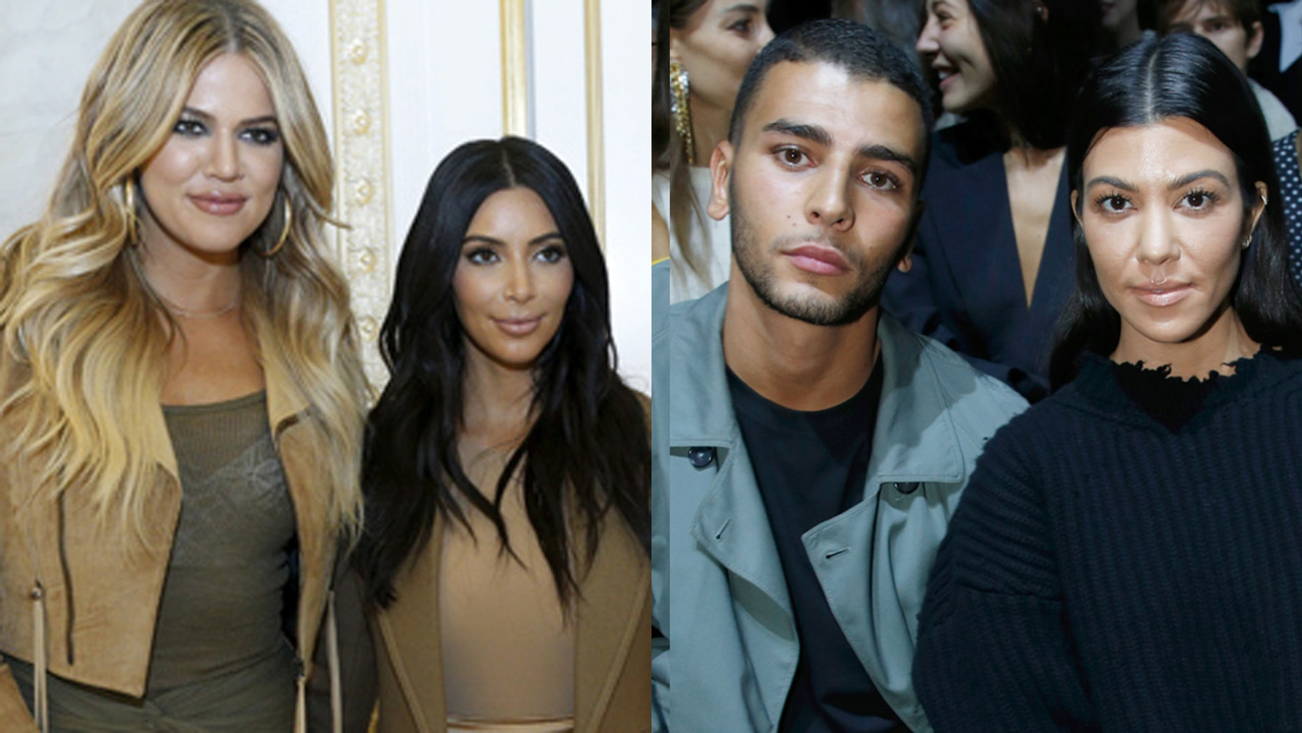 Kim and Khloe Kardashian defended their sister Kourtney after her now ex-boyfriend Younes Bendjima lashed out on social media about the breakup.