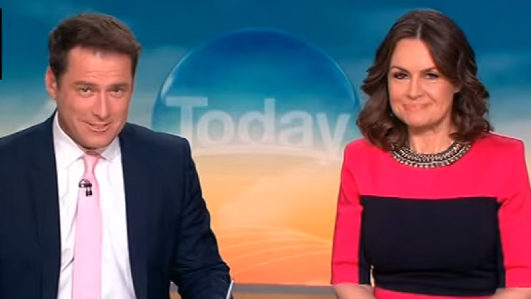 Karl Stefanovic wears his suit on 'Today' Australia.