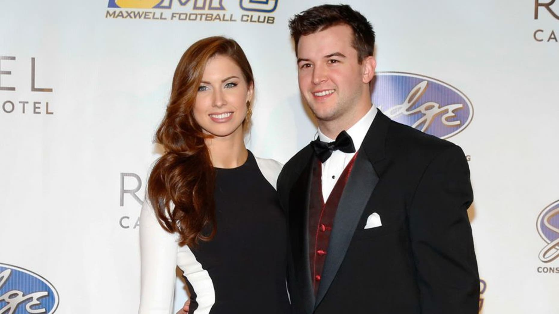 ATLANTIC CITY, NJ - MARCH 14: Former Miss Alabama Katherine Webb and University of Alabama Quarterback A.J. McCarron attend the 77th annual Maxwell Awards at Revel Casino on Friday March 14, 2014 in Atlantic City, New Jersey. (Photo by Tom Briglia/Getty Images)