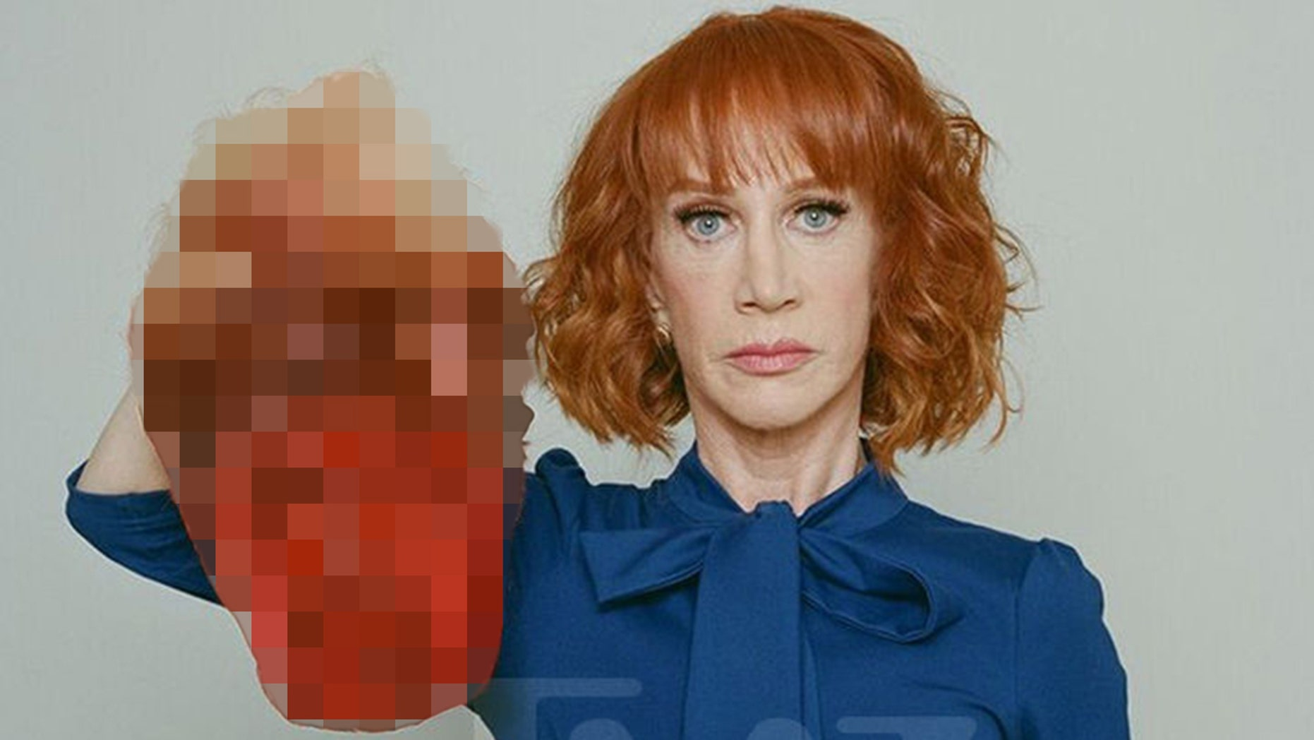 Kathy Griffin, who once apologized for posing for a picture with a fake severed head of President Trump, wore a Trump mask during a new stand up show.