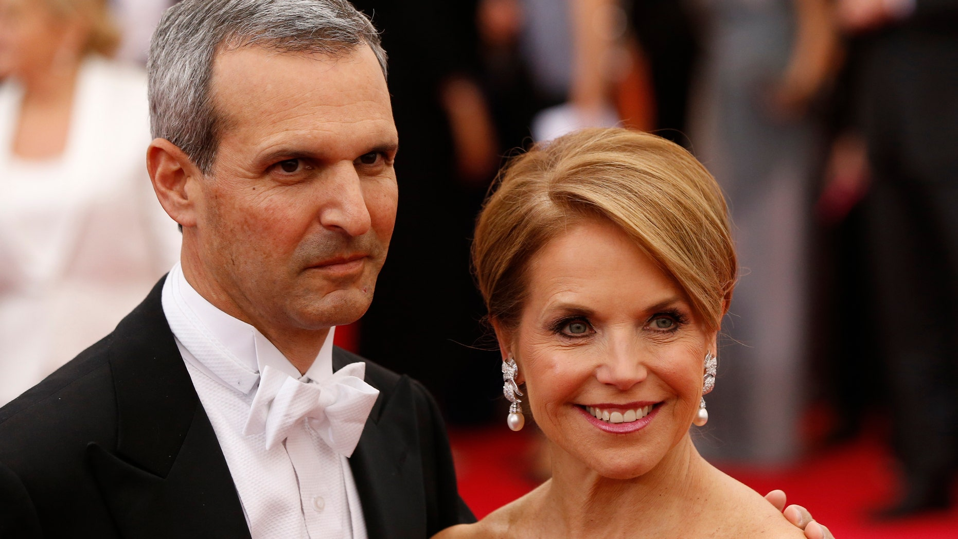 May 5, 2014. Katie Couric and boyfriend John Molner arrive at the Metropolitan Museum of Art Costume Institute Gala Benefit in New York.