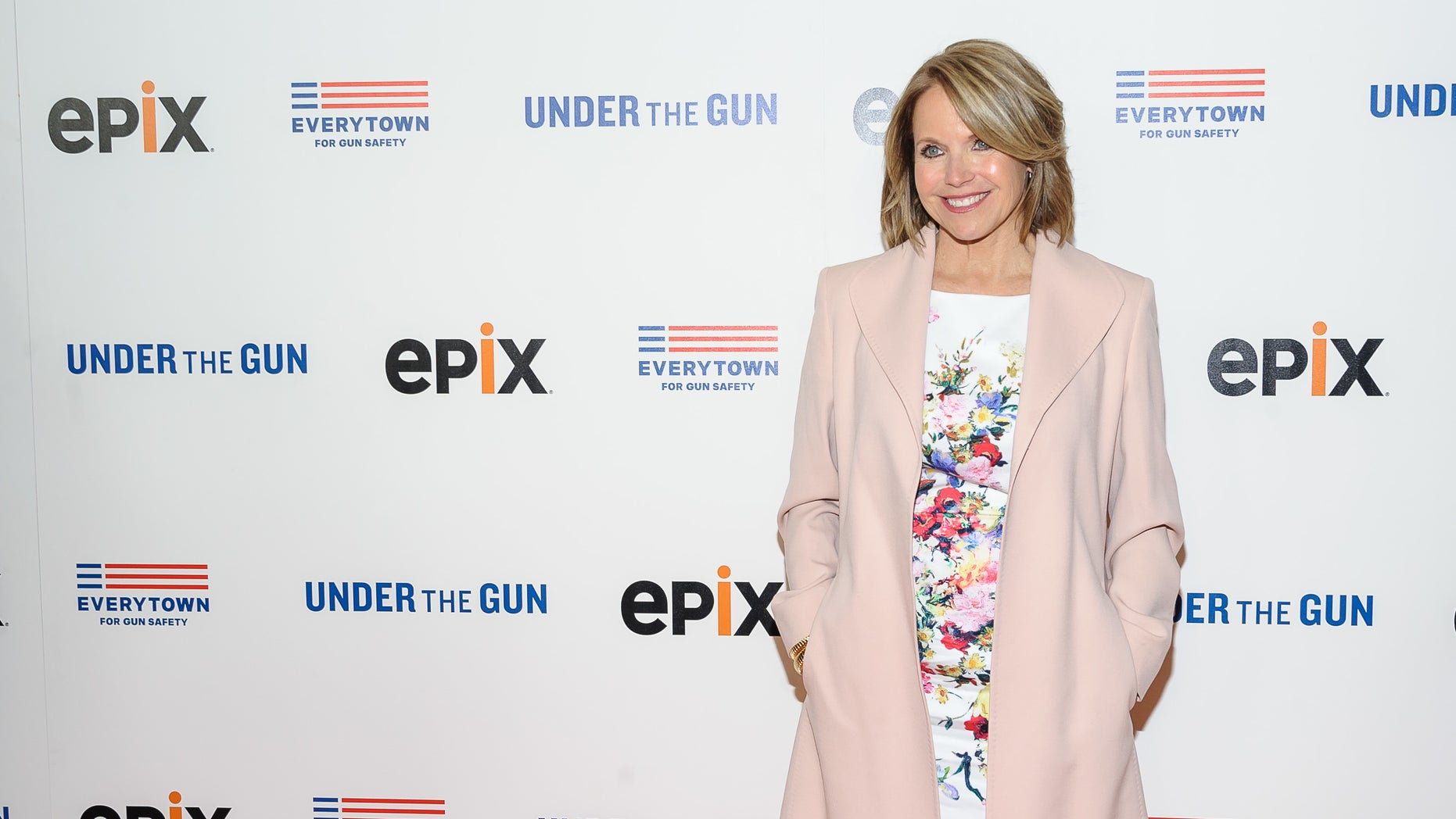 "n this May 12, 2016, file photo, Katie Couric attends the premiere of her documentary, ""Under The Gun"", hosted by The Cinema Society in New York."