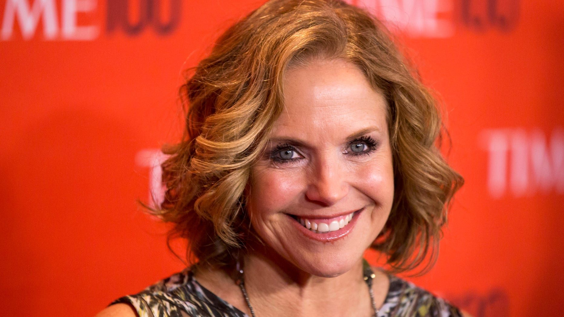 April 29, 2014. Journalist Katie Couric arrives at the Time 100 gala celebrating the magazine's naming of the 100 most influential people in the world for the past year in New York.