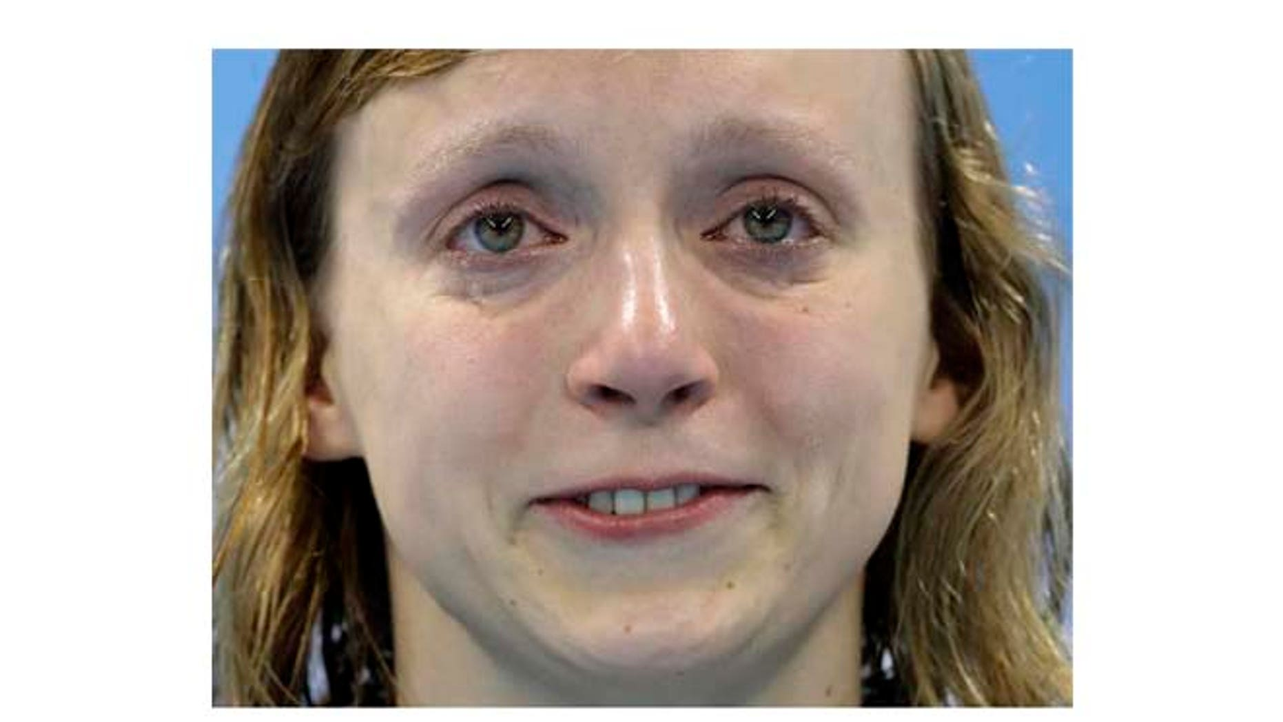 Aug. 12: Katie Ledecky cries, after winning gold, in the women's 800-meter freestyle medals ceremony during the swimming competitions at the 2016 Summer Olympics in Rio de Janeiro, Brazil.
