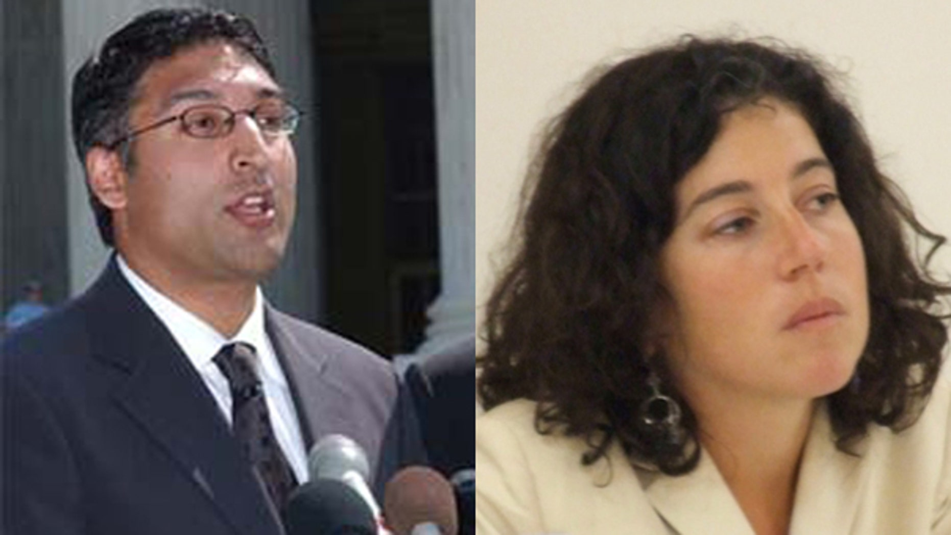 Attorneys Neal Katyal, left, (AP) and Jennifer Daskal (Joshua Sherurcij)