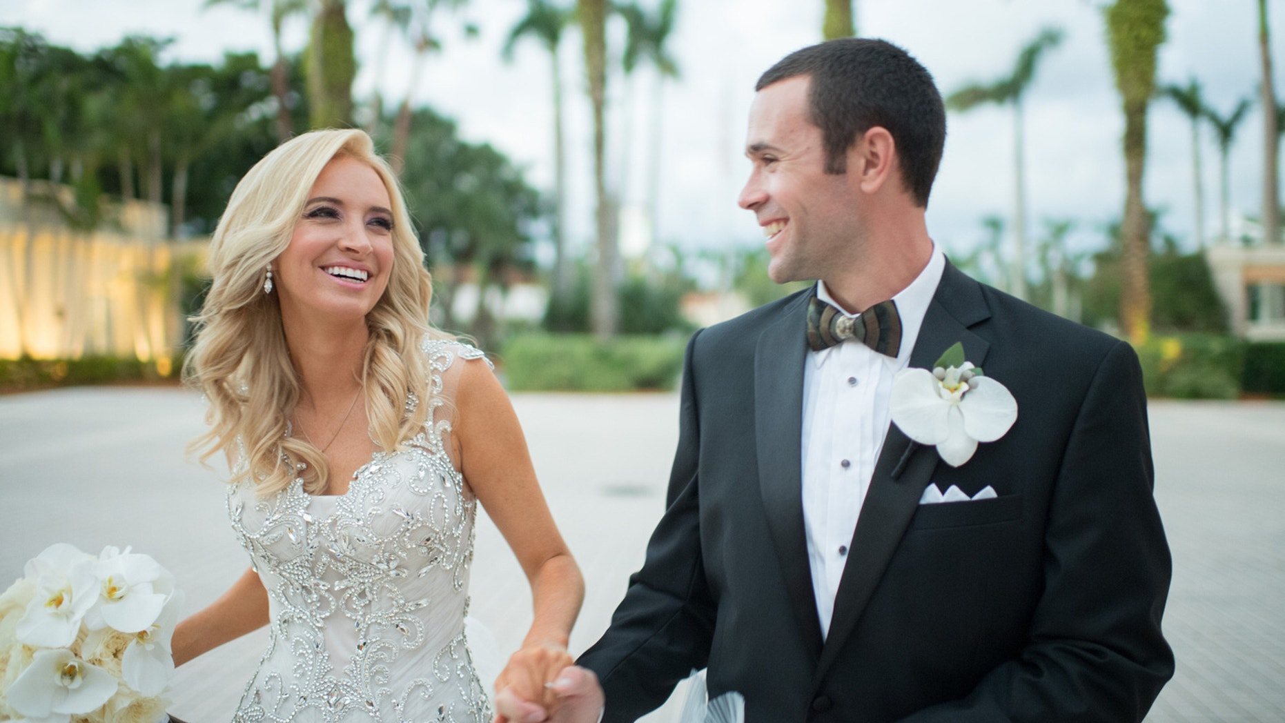 Kayleigh and her husband Sean on their wedding day.