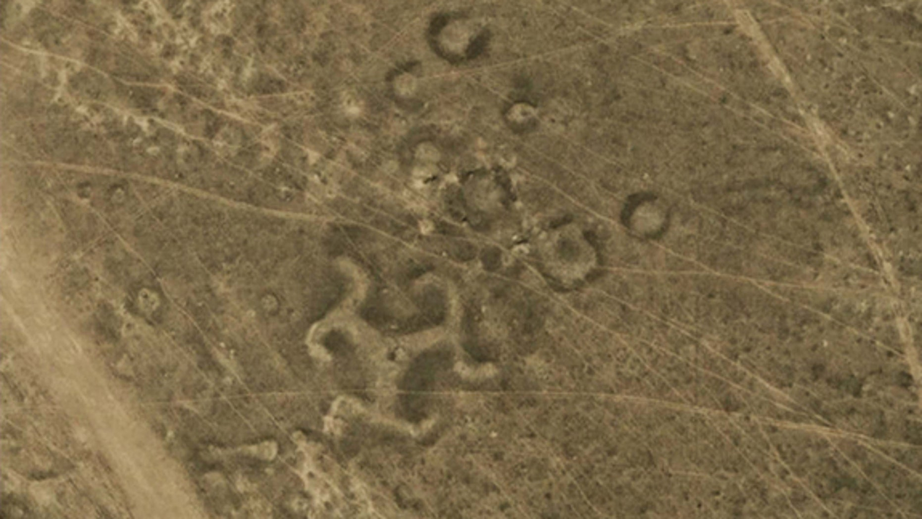 More than 50 geoglyphs, including one shaped like a swastika, have been discovered in northern Kazakhstan.