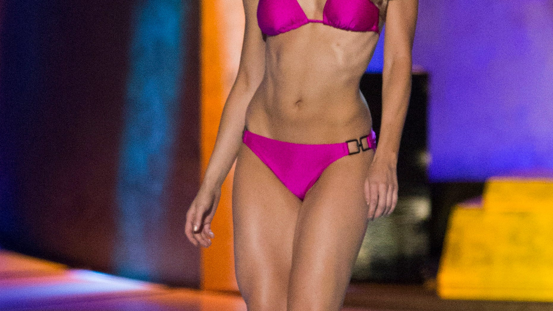 September 14, 2014. Miss New York Kira Kazantsev sports a swimsuit during the final 2015 Miss America Competition in Atlantic City, New Jersey.