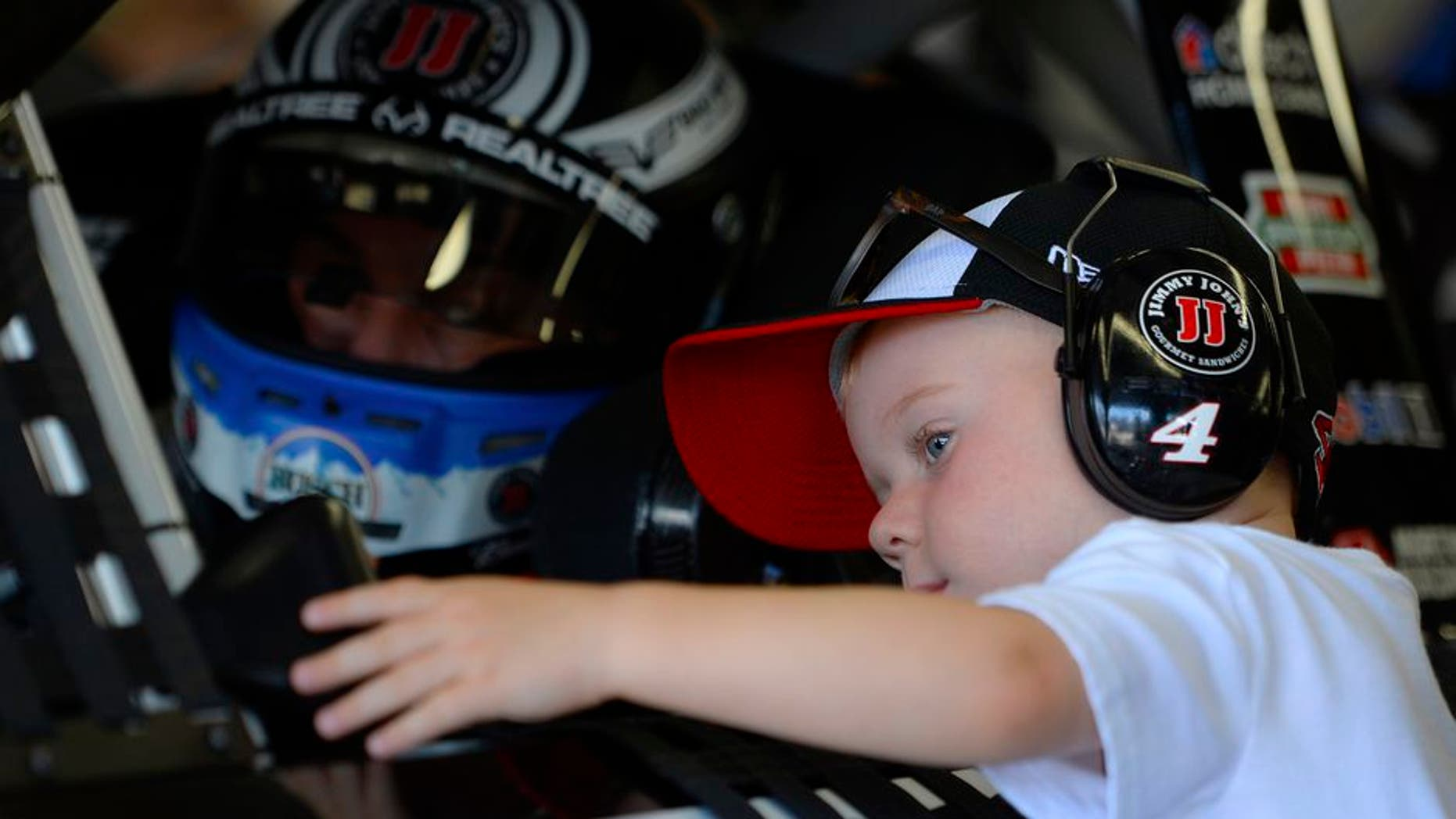 Kevin Harvick's son finds unique way to help dad prep for