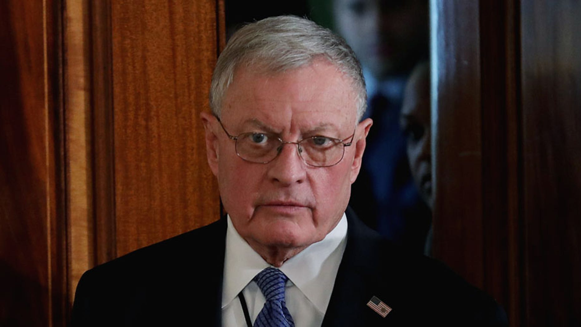 Retired Gen. Keith Kellogg is seen at the White House in this Feb. 15, 2017 file photo.