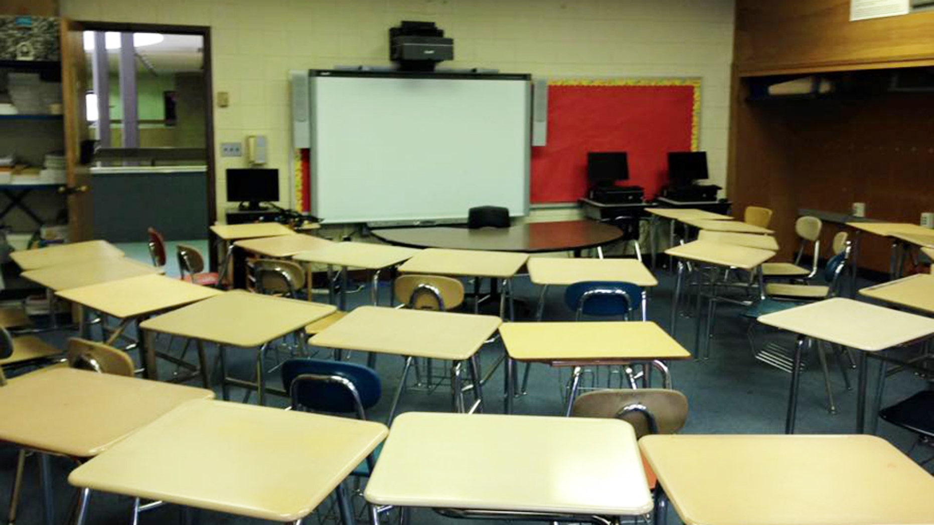 A classroom at the Kelly Full Service Community School. Administrators there hope that a new no homework policy, combined with a longer school day this upcoming year will improve students' performance in the classroom.
