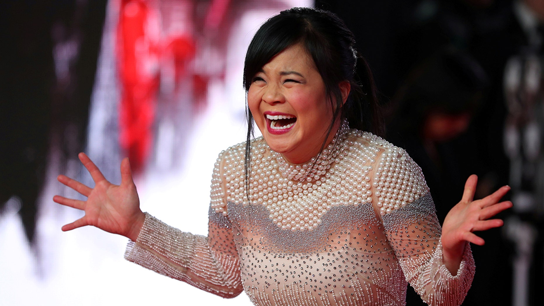 REFILE - CORRECTING SURNAME OF ACTOR Actor Kelly Marie Tran poses for photographers as she arrives for the European Premiere of 'Star Wars: The Last Jedi', at the Royal Albert Hall in central London, Britain December 12, 2017. REUTERS/Hannah McKay - RC1FA85A84D0