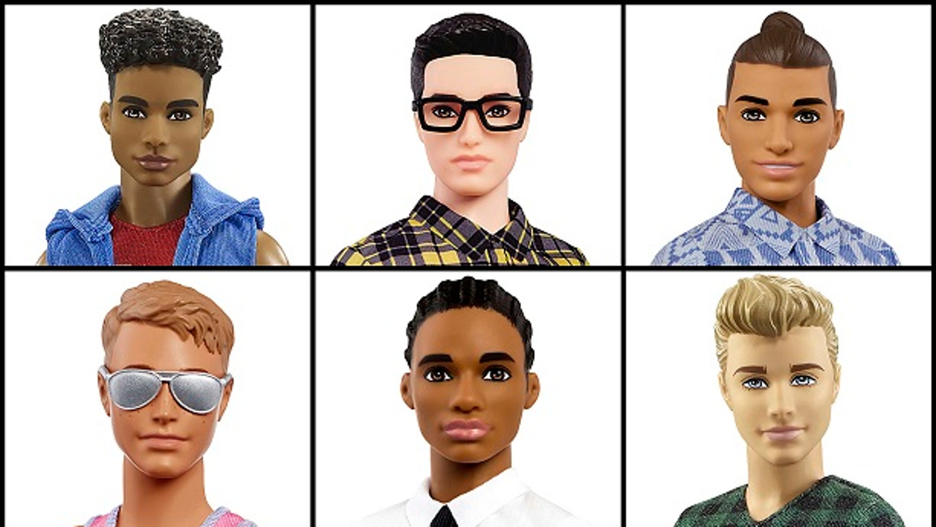 Mattel has launched a new line of Ken dolls on Tuesday. The dolls feature Ken sporting different hairstyles, skin tones and physiques.