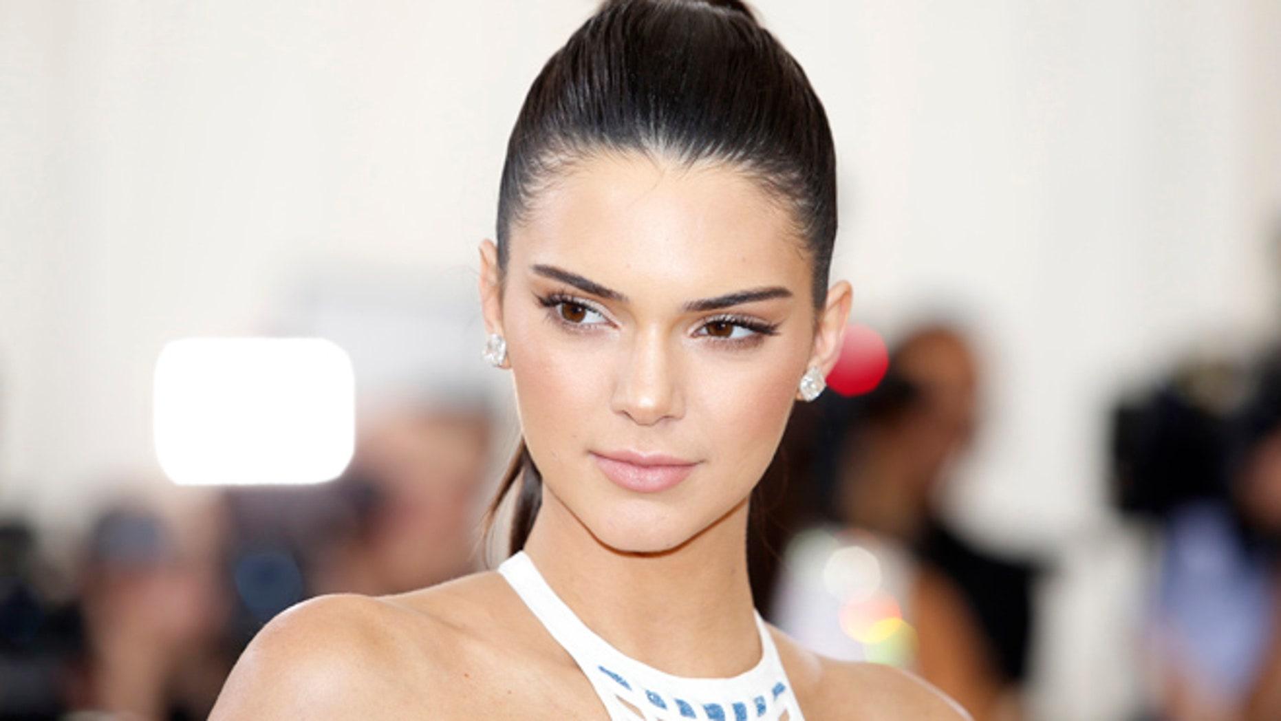 Kendall Jenner is modelling for La Perla lingerie.