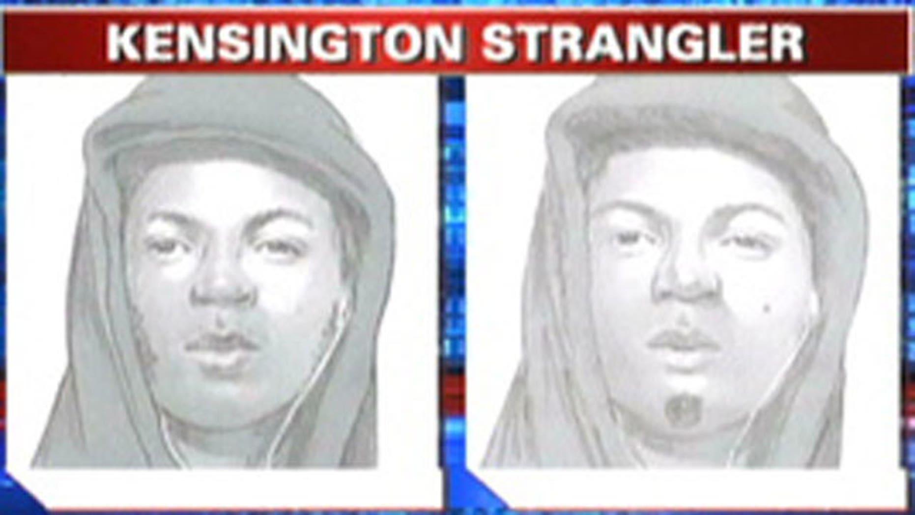 Sketch of Kensington Strangler suspect in Philadelphia.