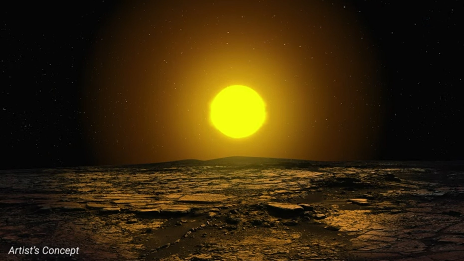 Artist's impression of the surface of newly-discovered planet Kepler-90i (Screenshot from NASAAmes Research Center YouTube video)
