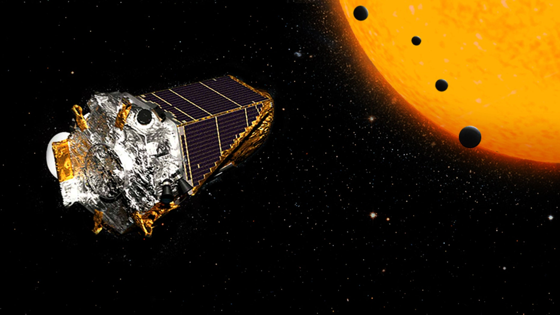 NASA's Kepler Space Telescope has gazed at more than 150,000 stars and continues to transmit back data that leads to important discoveries of celestial objects in our galaxy, including first-time observations of planets outside our solar system.  (Credits: NASA/Ames Research Center/Wendy Stenzel)