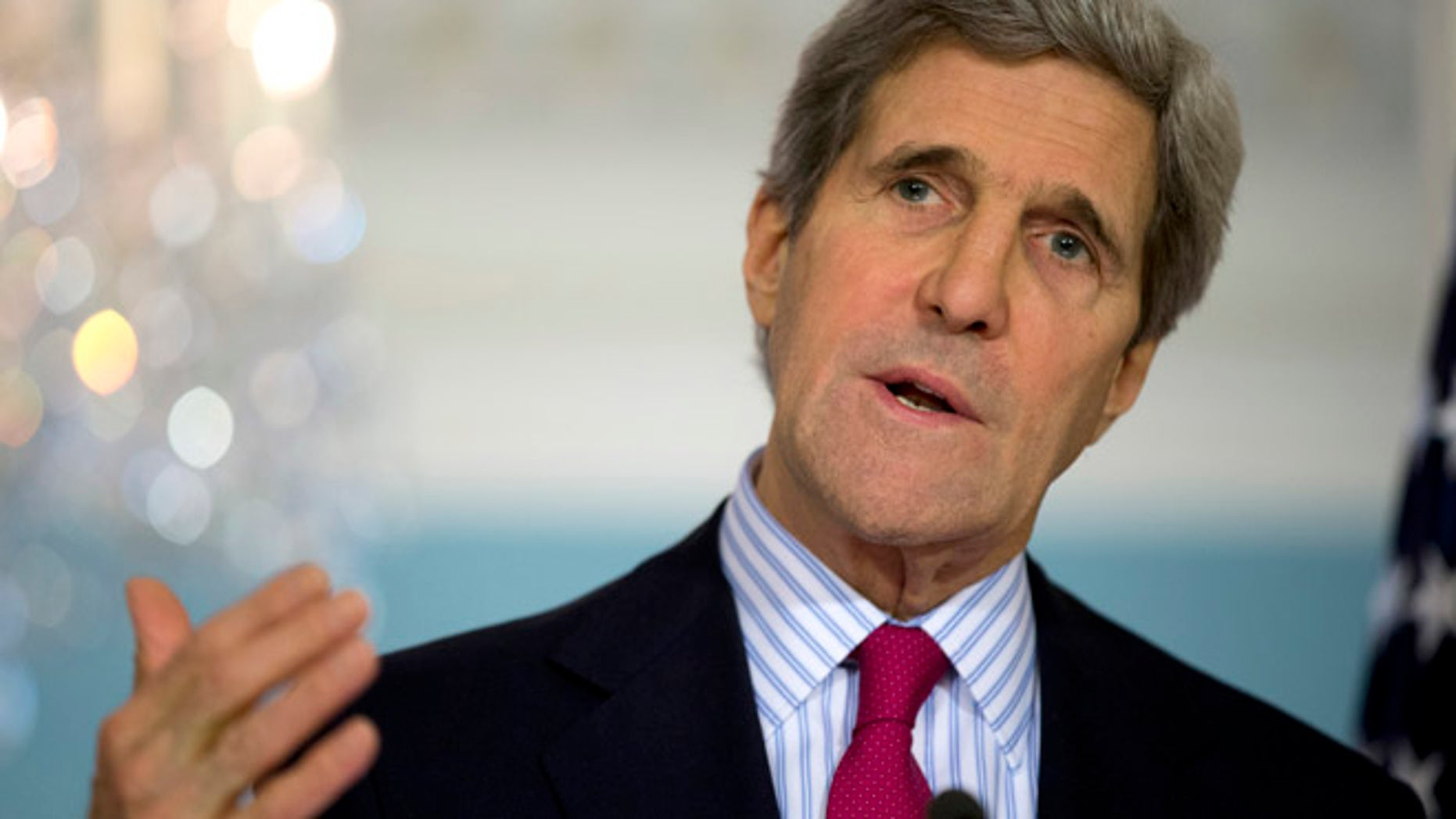 FILE: Feb. 28, 2014: Secretary of State John Kerry at the State Department in Washington, D.C.