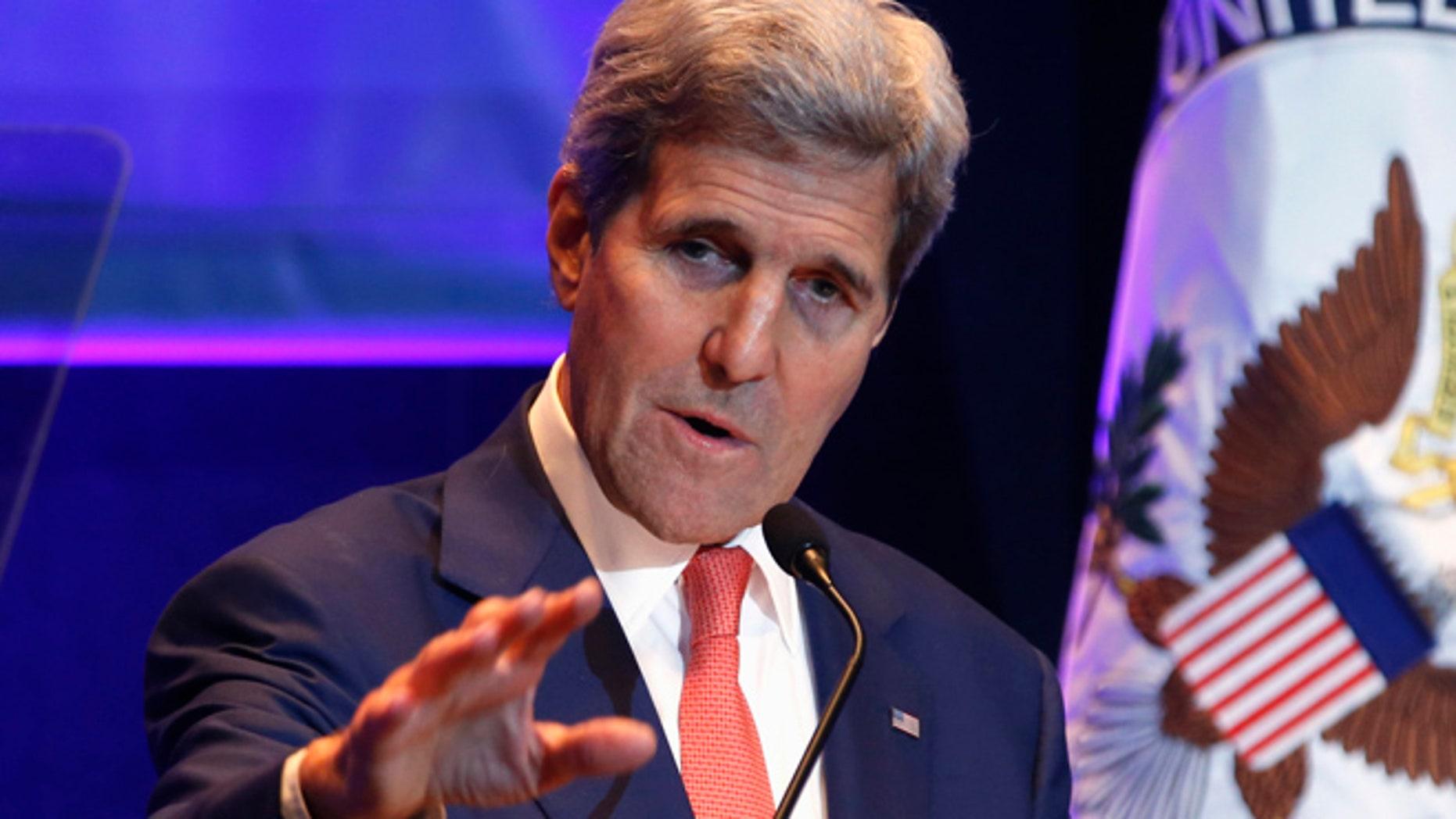 Nov. 10, 2015: Secretary of State John Kerry speaks at Old Dominion University in Norfolk, Va.