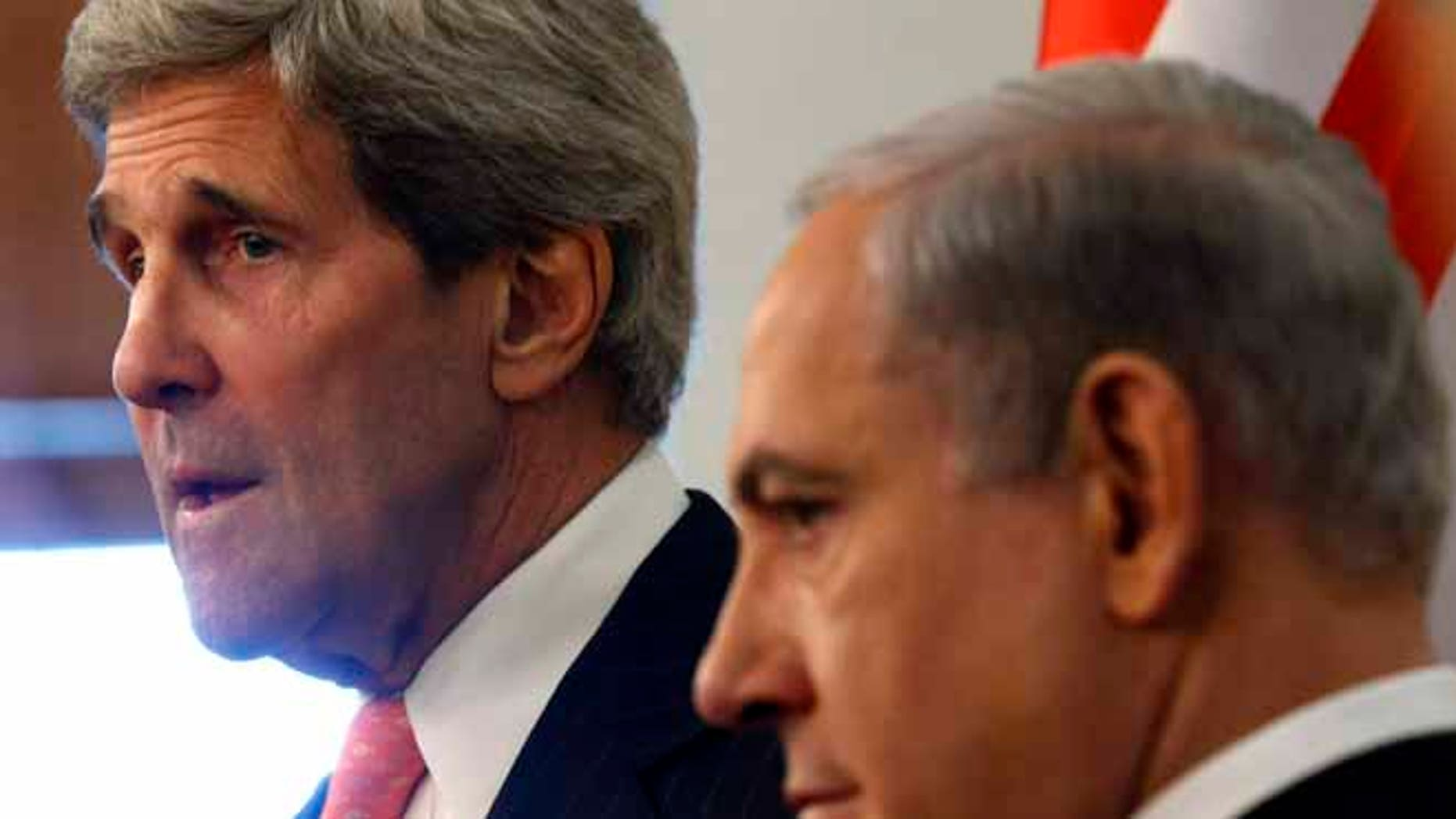 May 23, 2013: U.S. Secretary of State John Kerry, left, meets with Israeli Prime Minster Benjamin Netanyahu in Jerusalem. The United States and Israel are raising hopes for a restart of the Middle East peace process after more than four years of hardly any talks.
