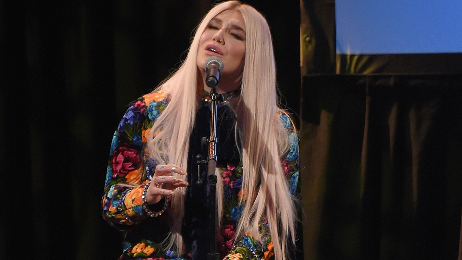 "Kesha performs onstage at the Country Music Hall of Fame and Museum's ""All for the Hall"" Benefit on February 13, 2018 in New York City."