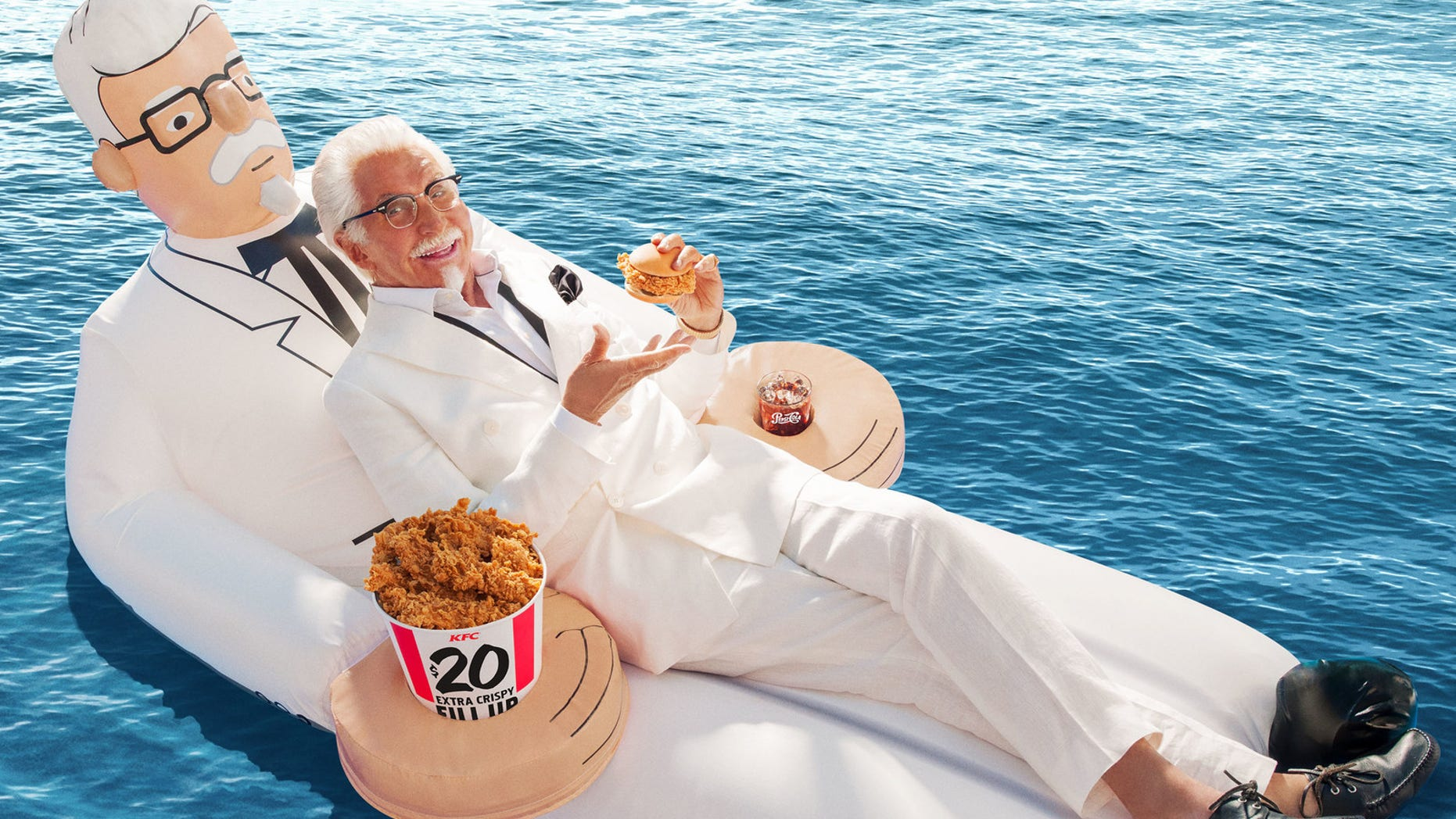 Float like Colonel Sanders with a limited edition pool floatie.